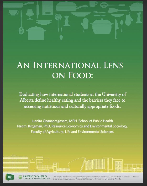 Research on International Students and healthy eating